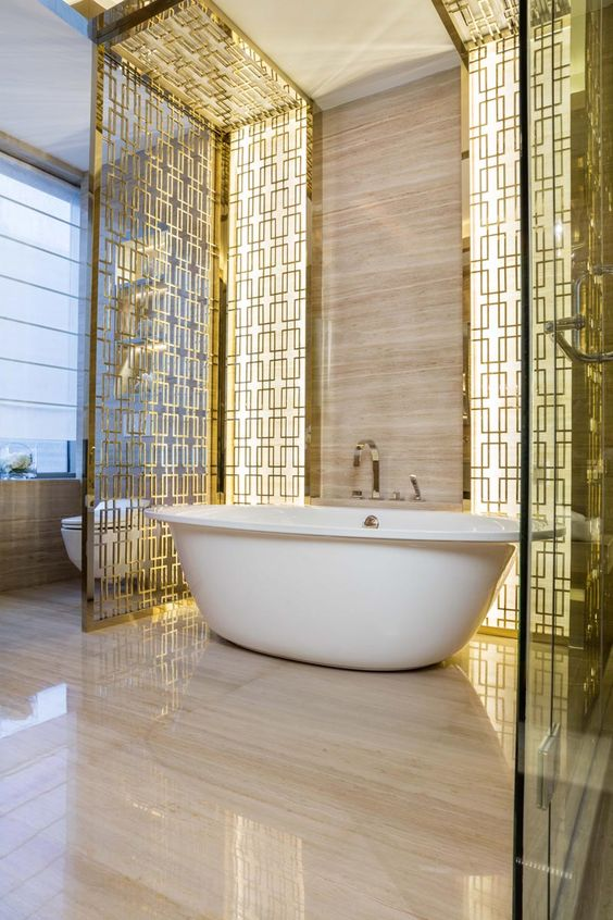 Glamorous bathrooms by kelly hoppen to copy decor10 blog for Top luxury interior designers