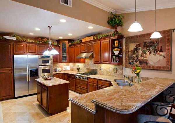 extravagant artwork plate of natural stone for kitchen