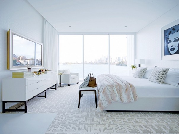 Beautiful bedrooms by greg natale to inspire you decor10 for Interior design bedroom blue white