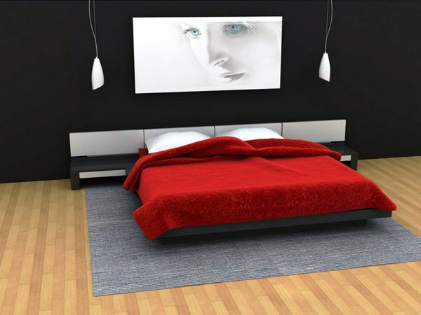 wall colors for bedrooms black white prank ideas walls bedded in red