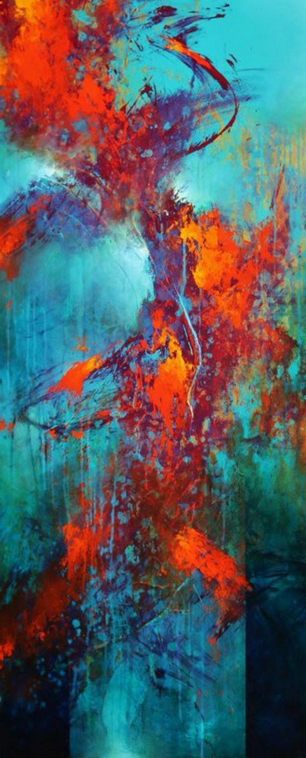 Contemporary painting on abstract picture