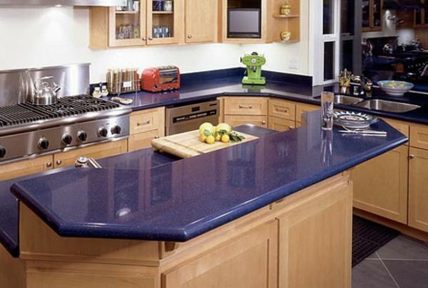 very interesting artwork plate of natural stone for kitchen