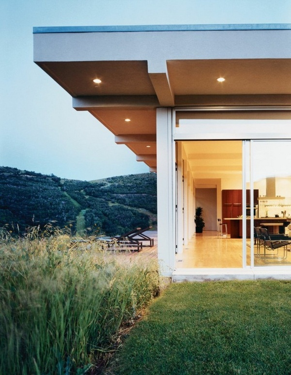 cool canopy of large terrace luxury panorama house