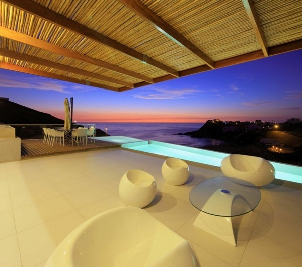 cool lookout modern panorama house beautiful sofas