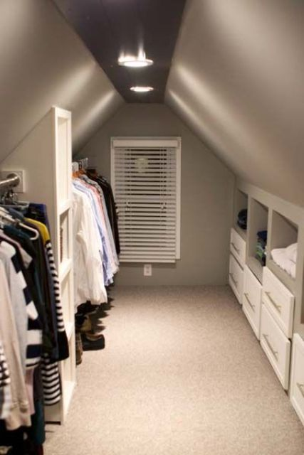 built in drawers and clothes hangers