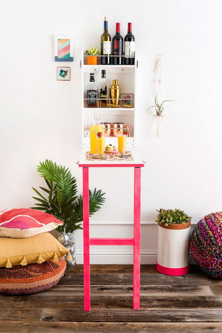 DIY colorful Murphy bar