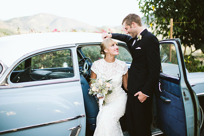 fallbrook-hacienda-boho-romantic-wedding-vintage-car-inspiration11