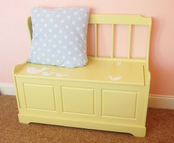 Toy boxes on Which you can sit