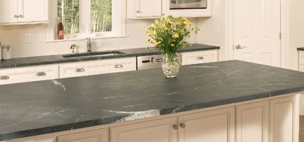 white color of countertop kitchen for of natural stone
