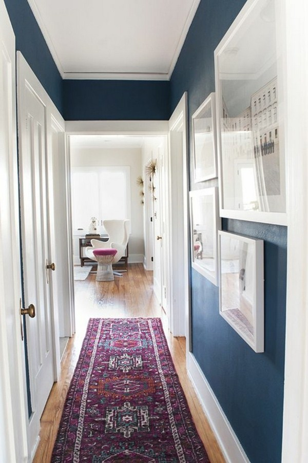 up carpet in the hallway long bright modern