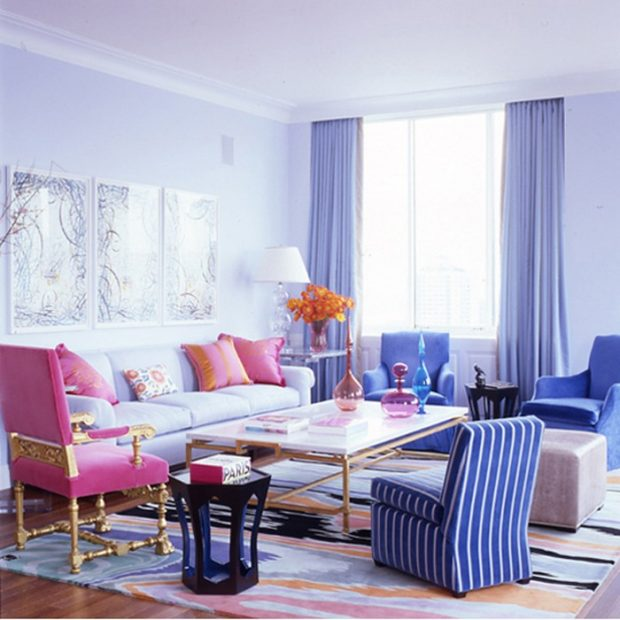 15 Colorful Living Rooms By Jamie Drake For Summer Homes