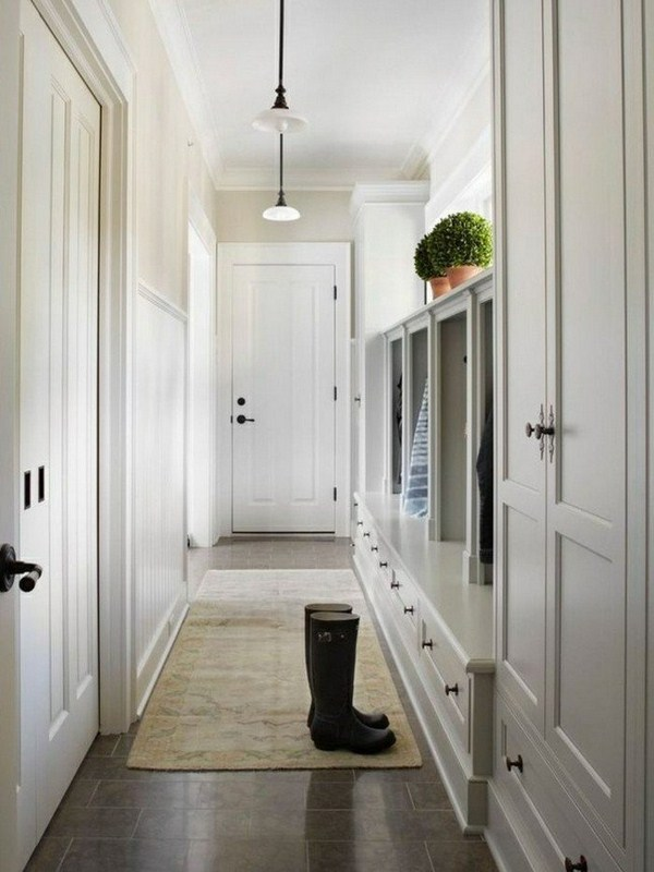Carpet in the hallway white interior ideas of white walls