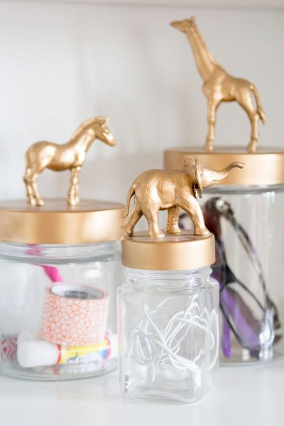 jars with lids for storing various stuff