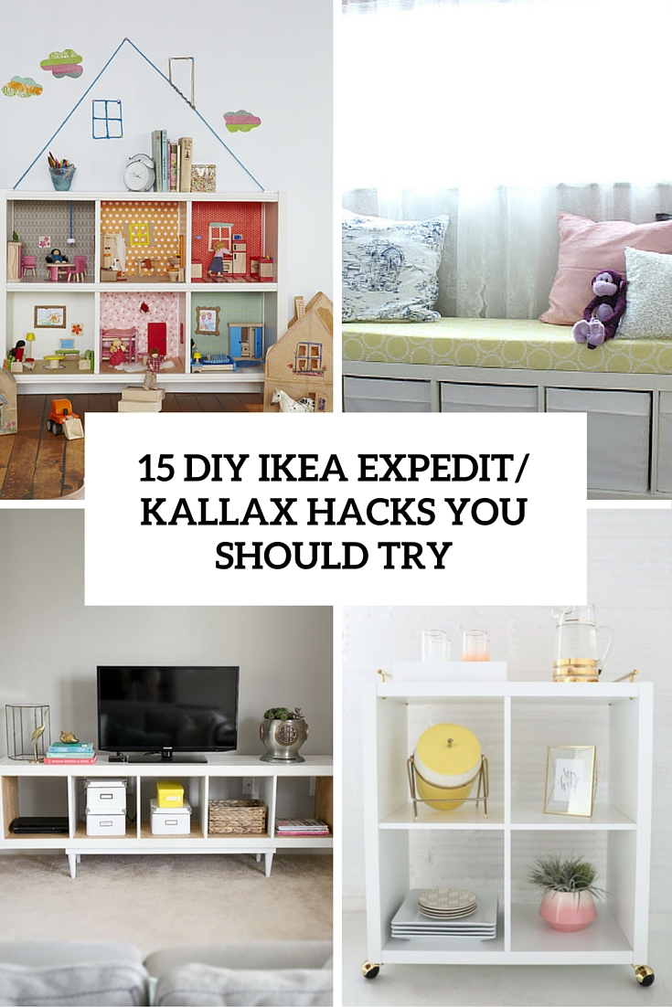 15 diy ikea kallax shelves hacks you could attempt. Black Bedroom Furniture Sets. Home Design Ideas