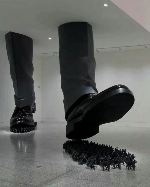 Museum of contemporary art-enormous boots