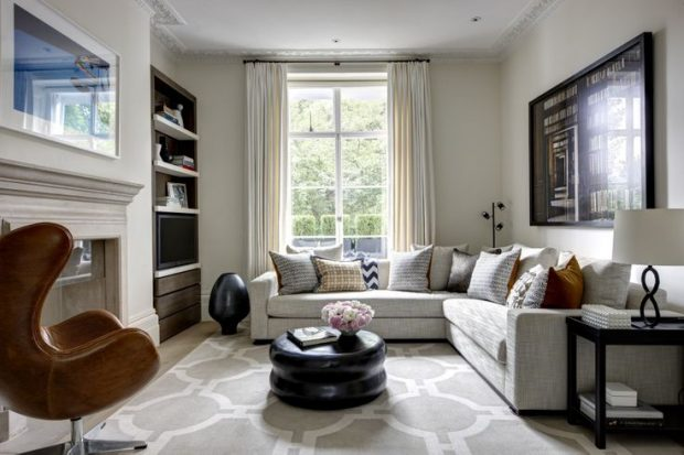 How to decorate your living room like helen green - Townhouse living room decorating ideas ...