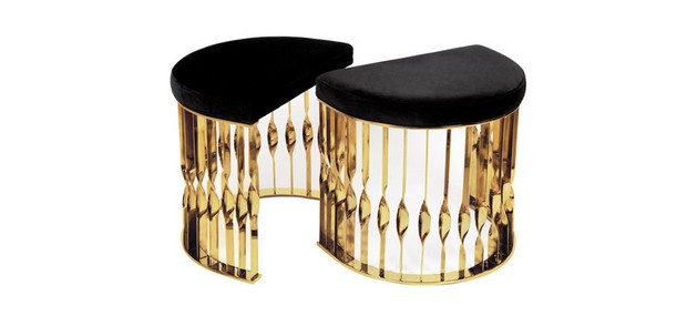 10 Beautiful Luxury Stools to use on the Living Room Design beautiful luxury stools 10 Beautiful Luxury Stools to use on the Living Room Design Room Decor Ideas 10 Beautiful Luxury Stools to use on the Living Room Design Mandy Stool by KOKET