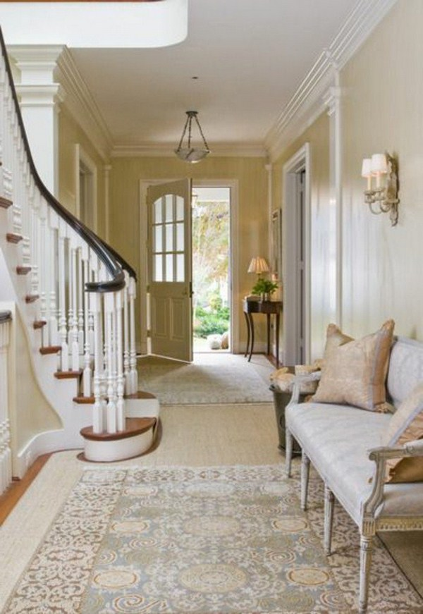 Residential ideas carpet for hallway bench