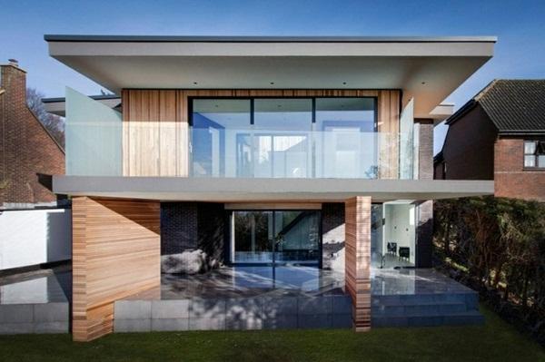 super beautiful design of modern house panorama