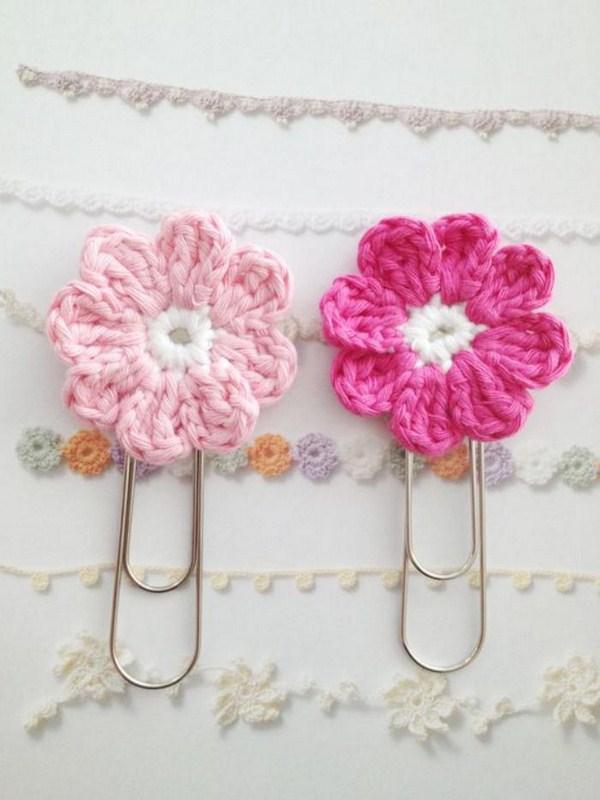 bookmarks crochet beautiful flower