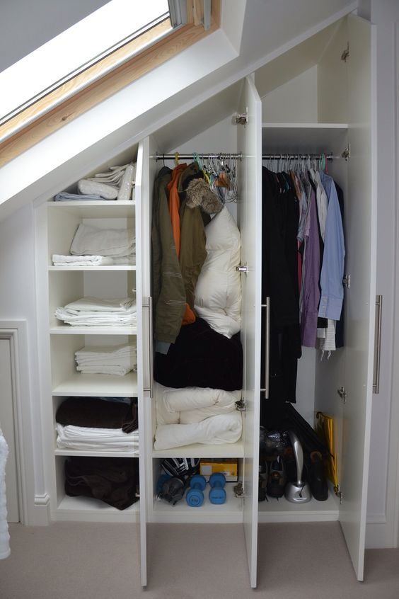 fitted closet under the eaves