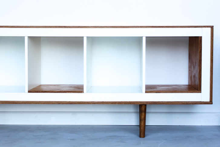 Diy Kallax Mid Century Modern Sideboard