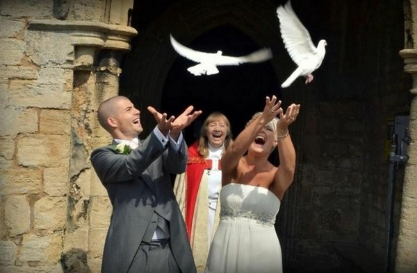 Dove flying can become a rite