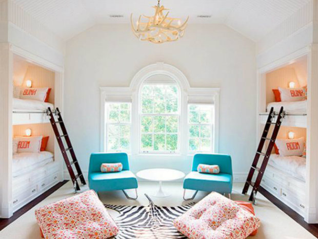 A summer slumber party retreat is given a chic look with a pure white background and added pops of color. Summer Bedroom Ideas Inspirational Summer Bedroom Ideas summer bedroom koket love happens