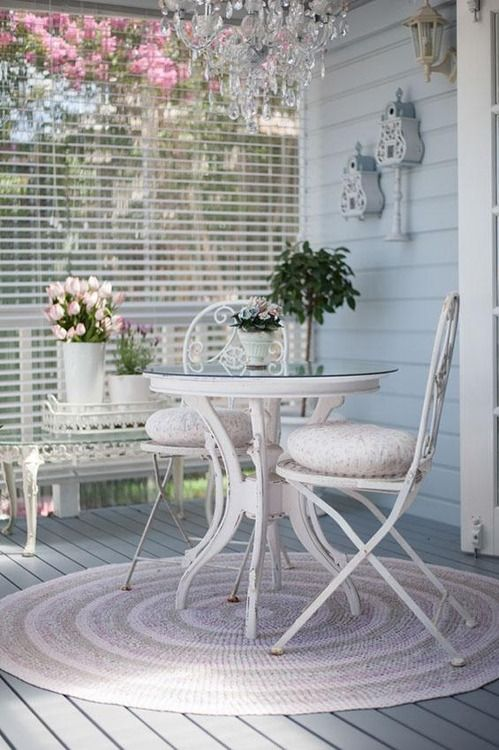 French styled shabby wooden dining set