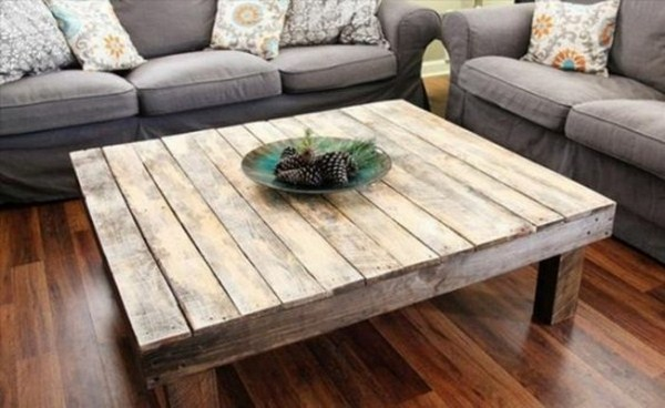 Coffee table itself build pallets modern living room design