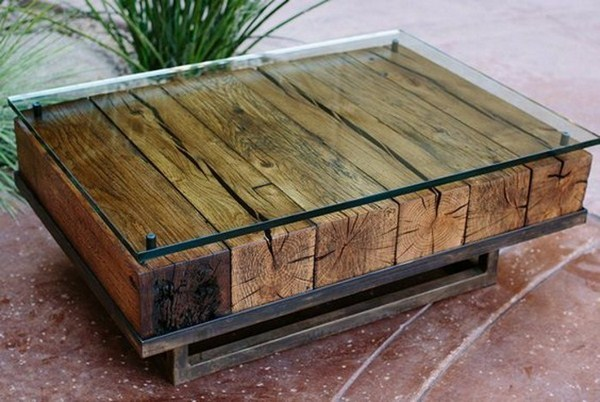 Coffee table itself build glasplatte