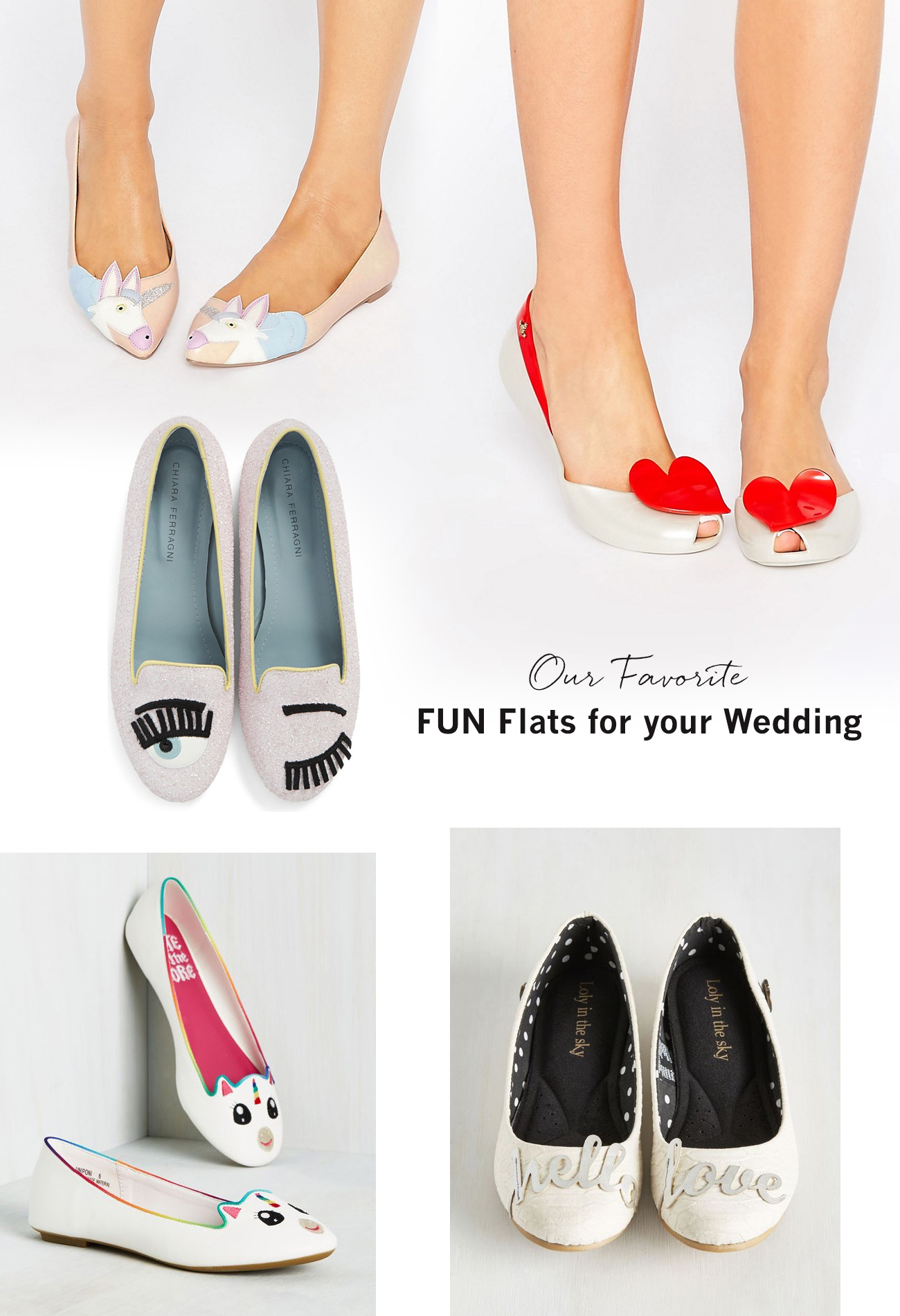Our Favorite FUN Flats for Your Wedding