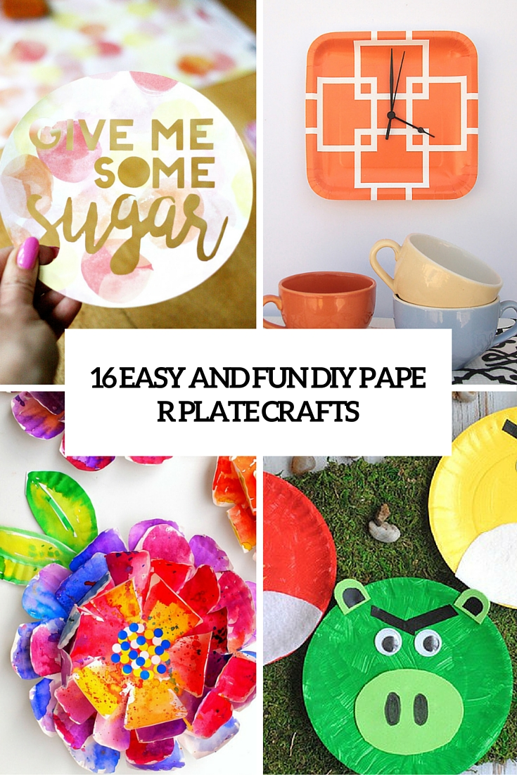16 easy and fun diy paper plate crafts cover