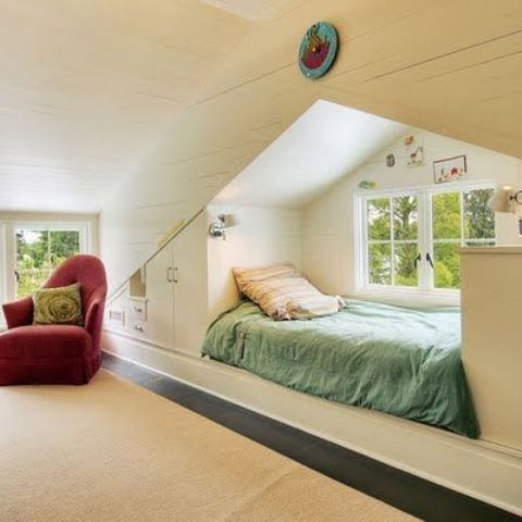 cozy attic sleeping nook