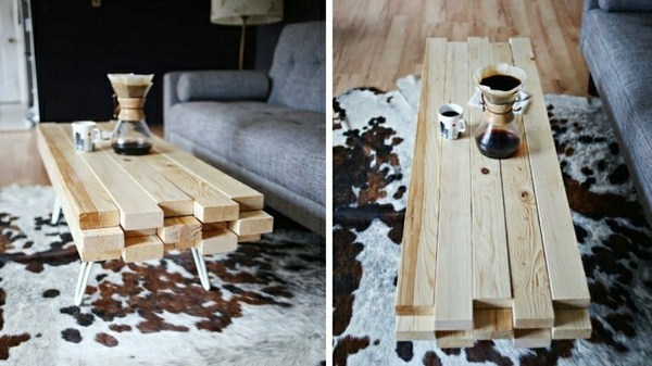 Coffee table itself build marble slabs