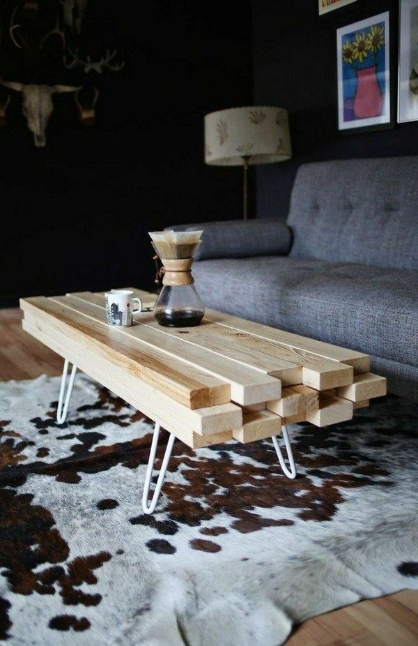 Coffee table build your own wood massive square