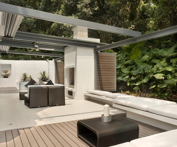Customize terrace sunshade retractable awnings-terrace flooring panels wpc floorboards combination