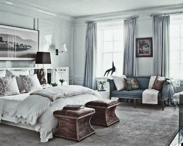 gray-wall-color-interesting-model-cozy-bedrooms