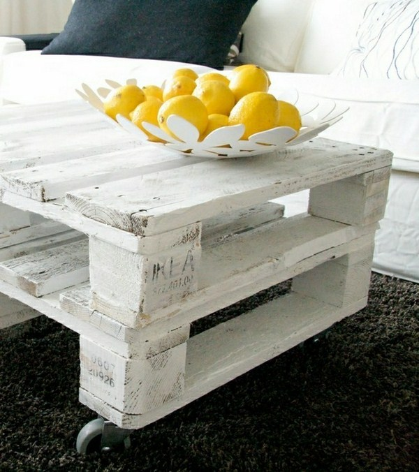 self-made coffee table roll on