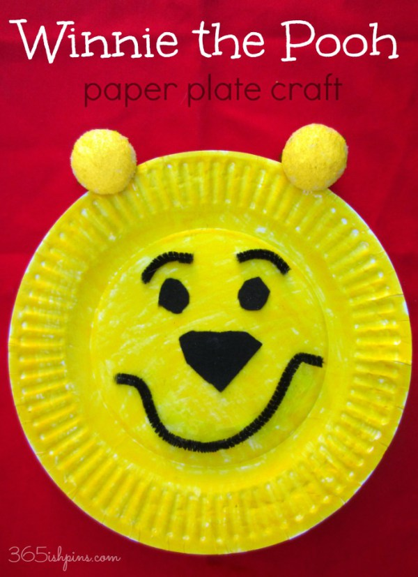 DIY Winnie The Pooh paper plate craft