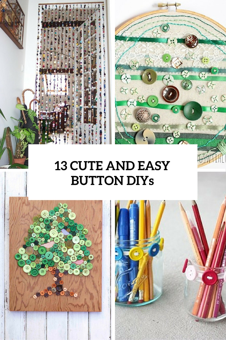cute and easy button diys cover