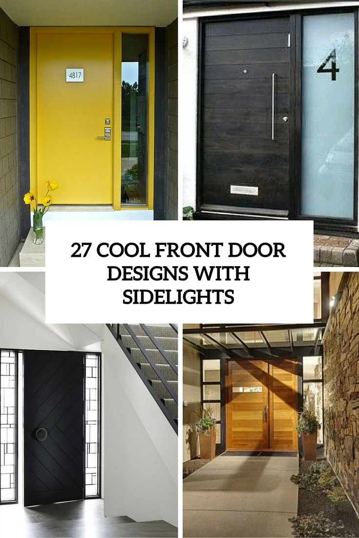 cool front door designs with sidelights cover