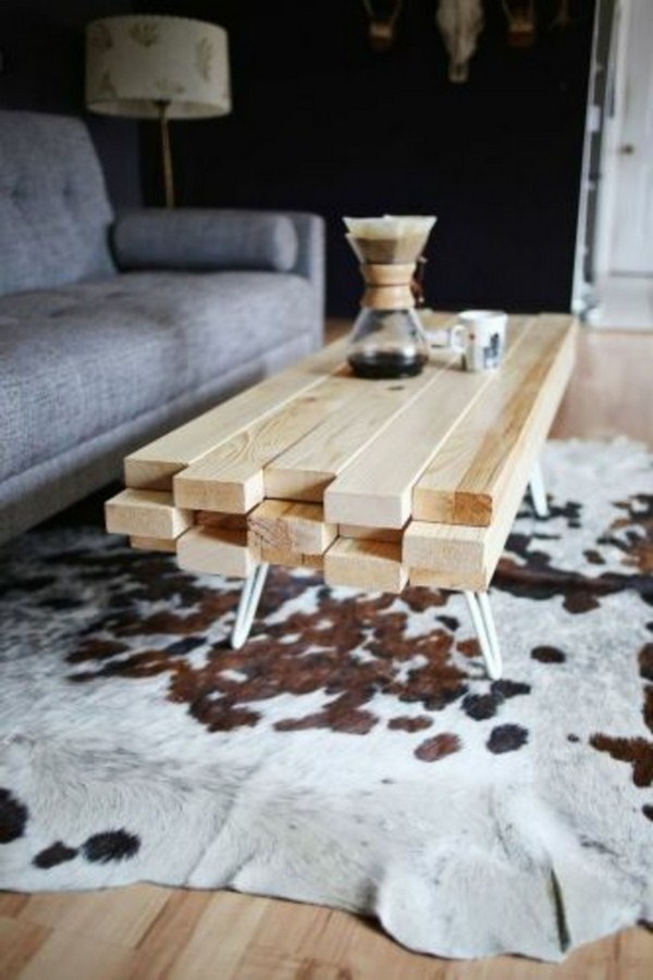 Coffee table below build itself