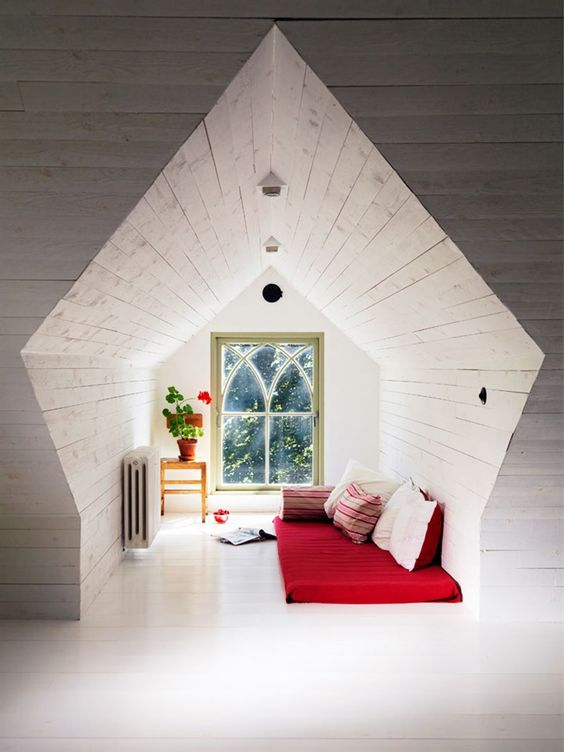 cozy and tiny attic bedroom