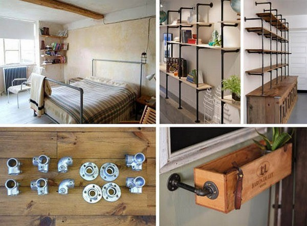 pipe shelf diy 1