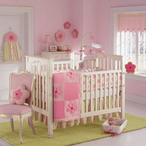 children's furniture bedroom decoration white pink baby