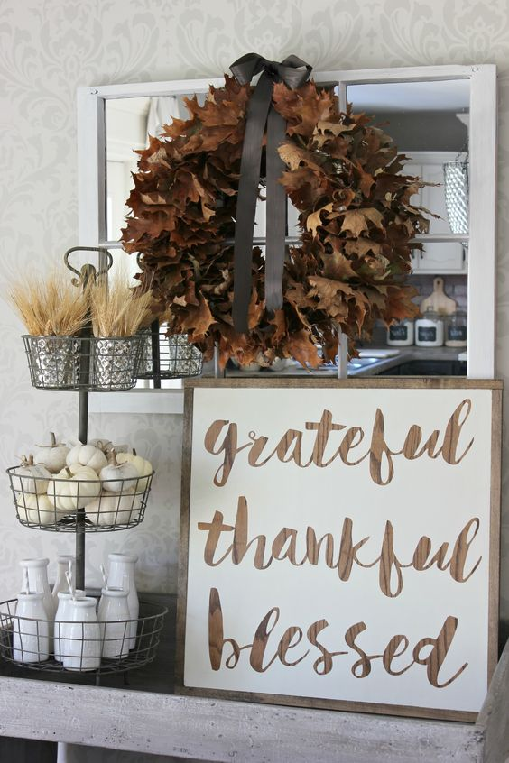 Grateful Thankful Blessed Vignette: