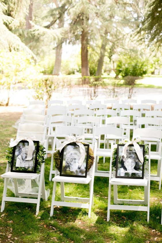In Memory of wedding chair idea to remember loved ones that have passed