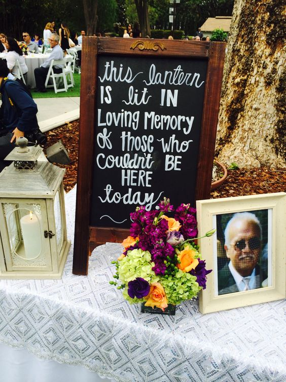 honoring loved ones wedding sign
