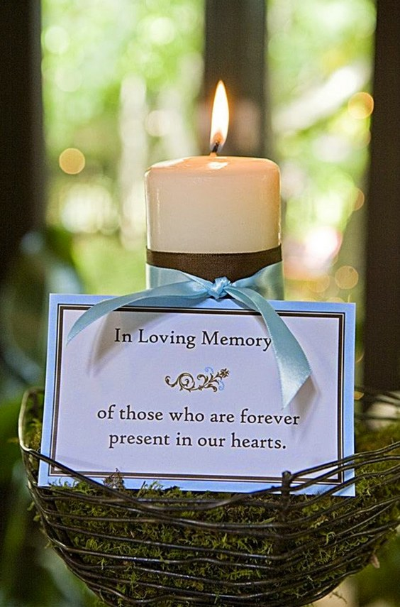 memory candle for wedding